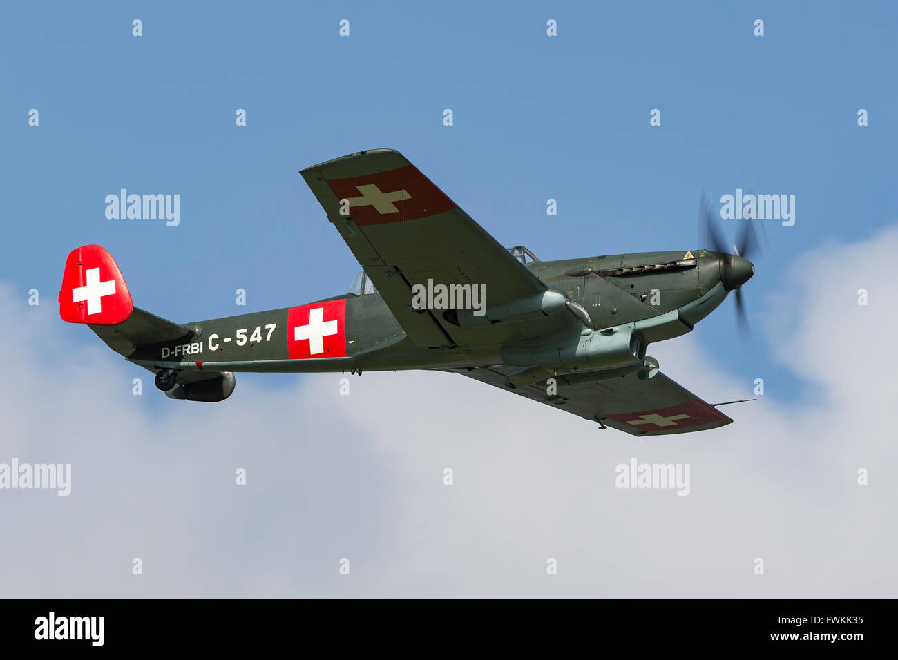 EKW C-3603 (D-FRBI), a Swiss multi-purpose combat aircraft built by the in the 1930's -1940's.