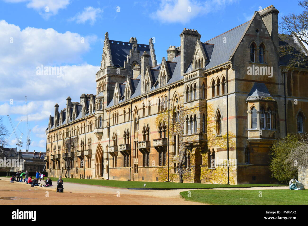 A View Of Christchurch College Oxford University On Sunny Spring Day Classic Victorian Gothic Revival Architecture