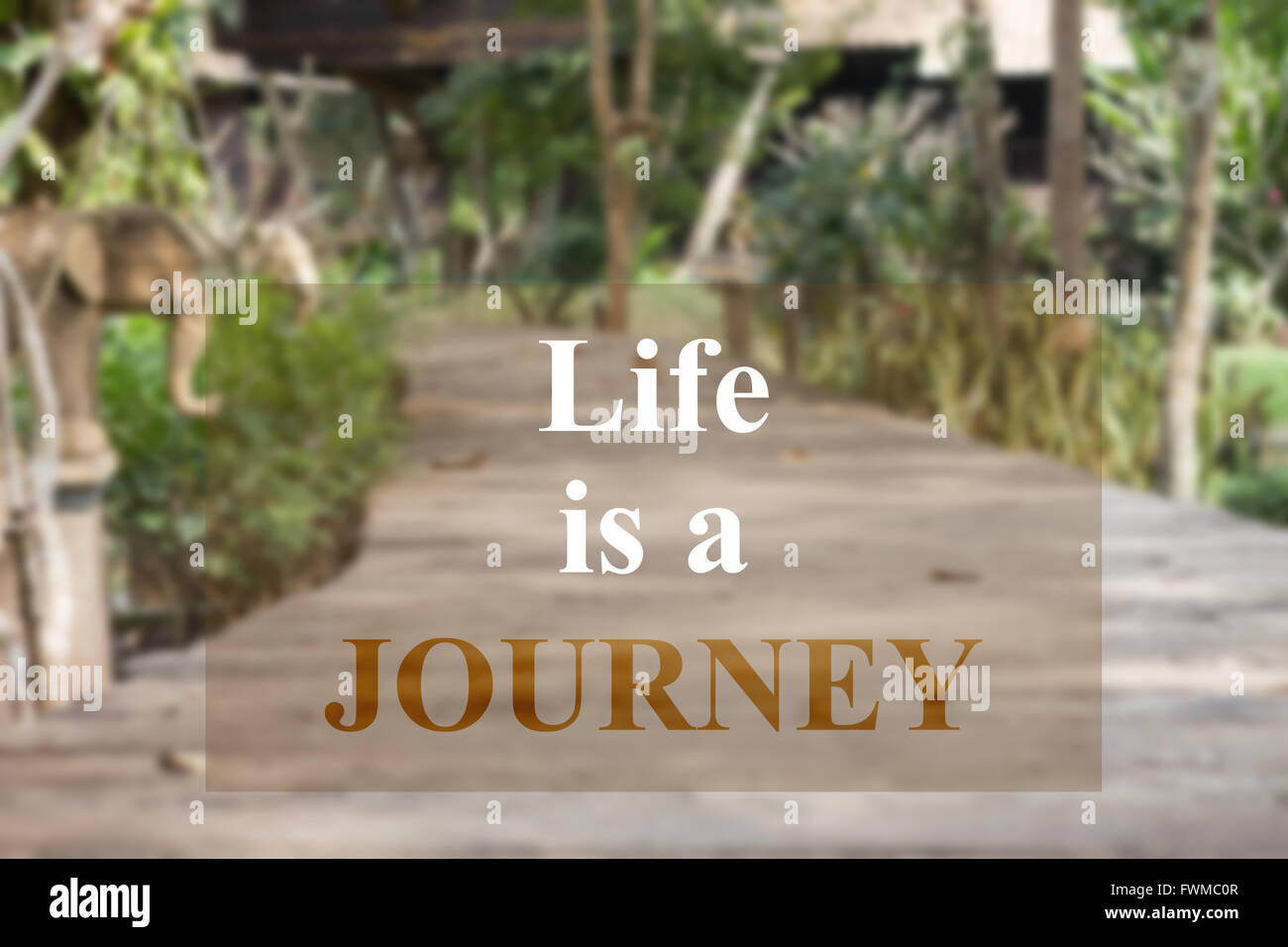 Life Journey Quotes Inspirational Life Is A Journey Inspirational Quote On Garden Background Stock