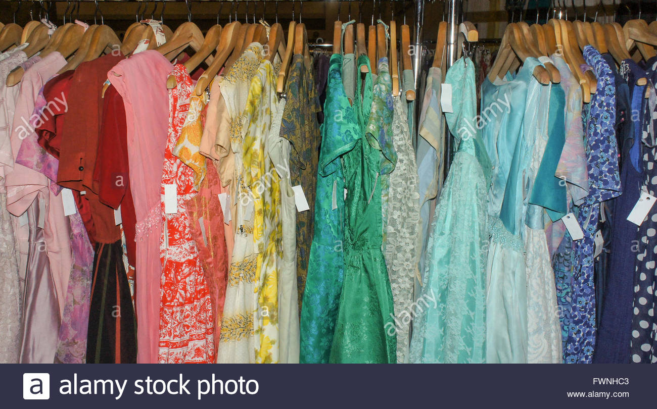 A Rainbow of Color - Vintage Dresses on display at the Ottawa Stock ...