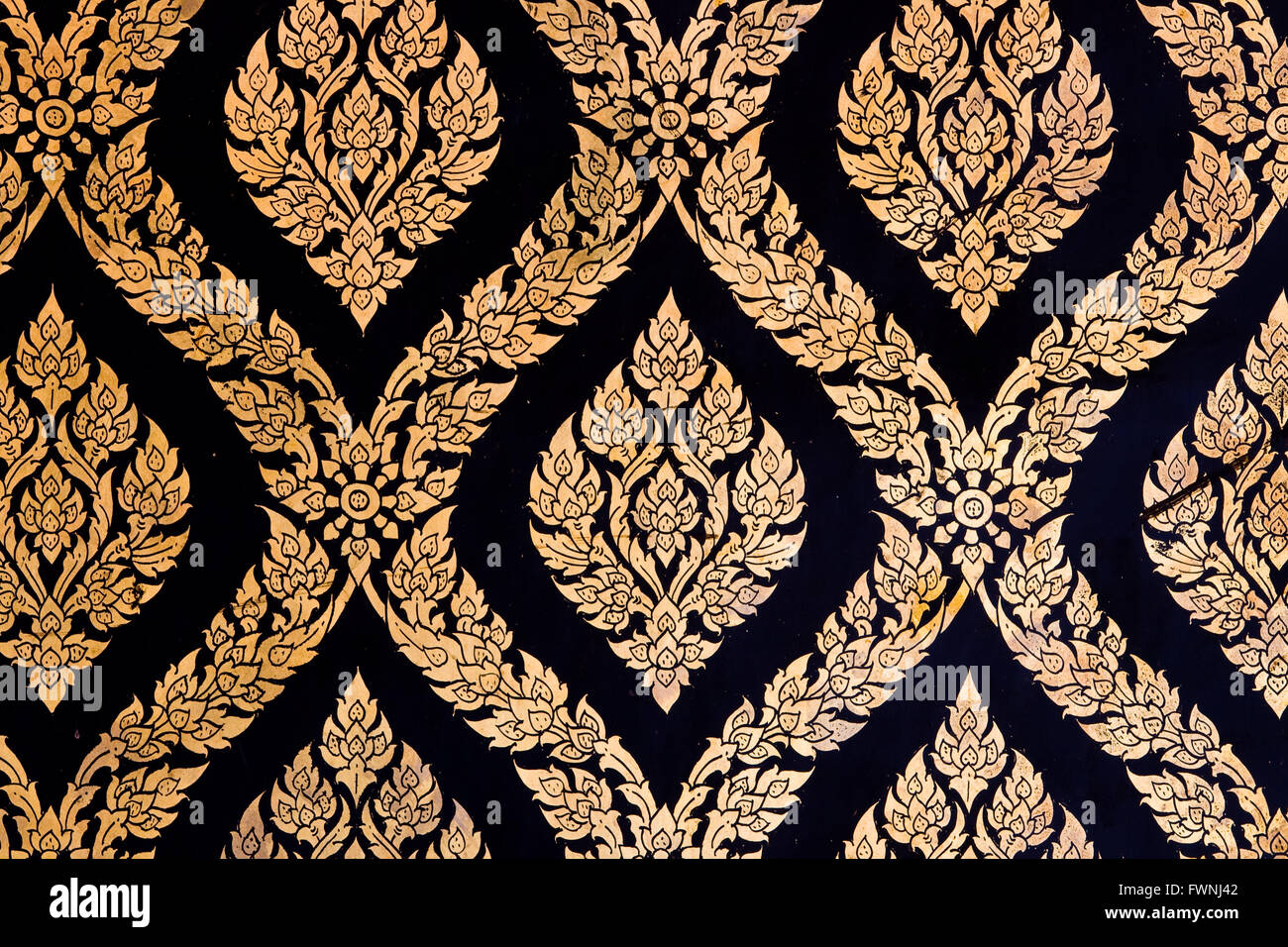 Pattern of Thai Chinese Traditional Ornament Golden Paint on Temple door & Pattern of Thai Chinese Traditional Ornament Golden Paint on ...
