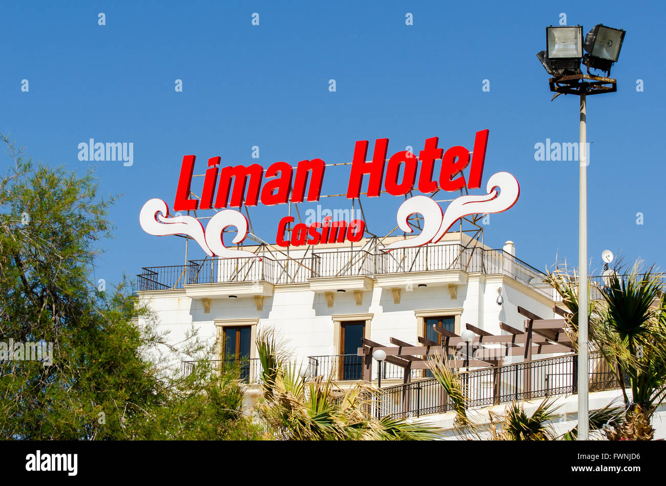 The Liman Hotel and Casino in Kyrenia on the north coast of Cyprus ...