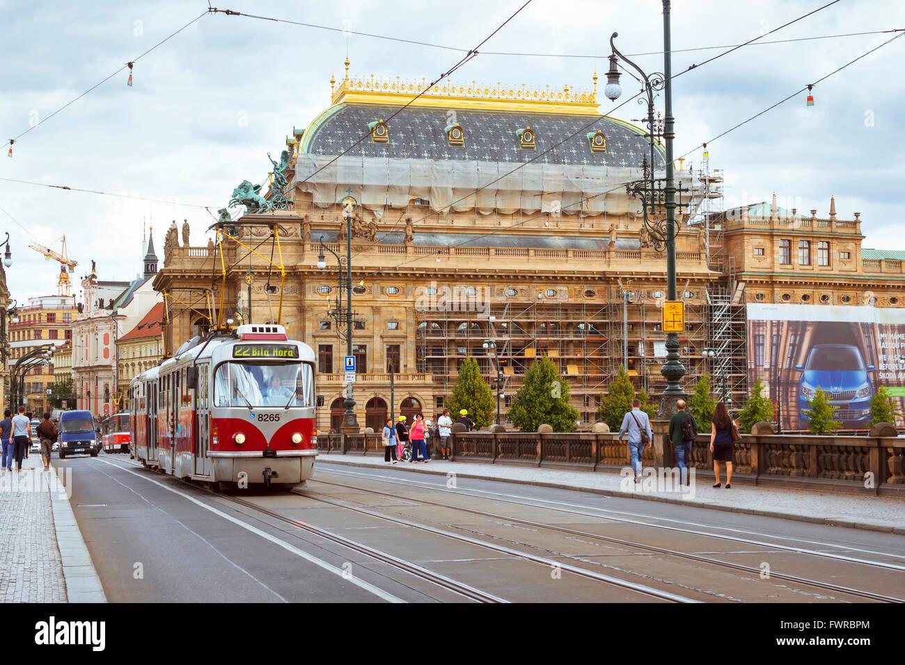 old tram prague street - photo #38