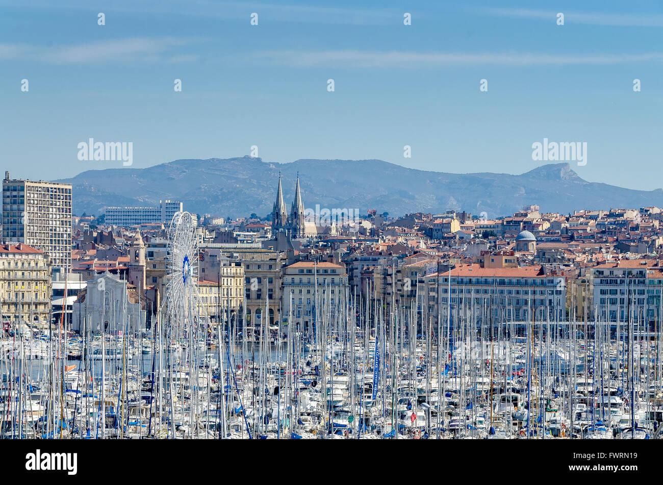 Vieux port marseille bdr france 13 stock photo royalty - Promenade bateau marseille vieux port ...