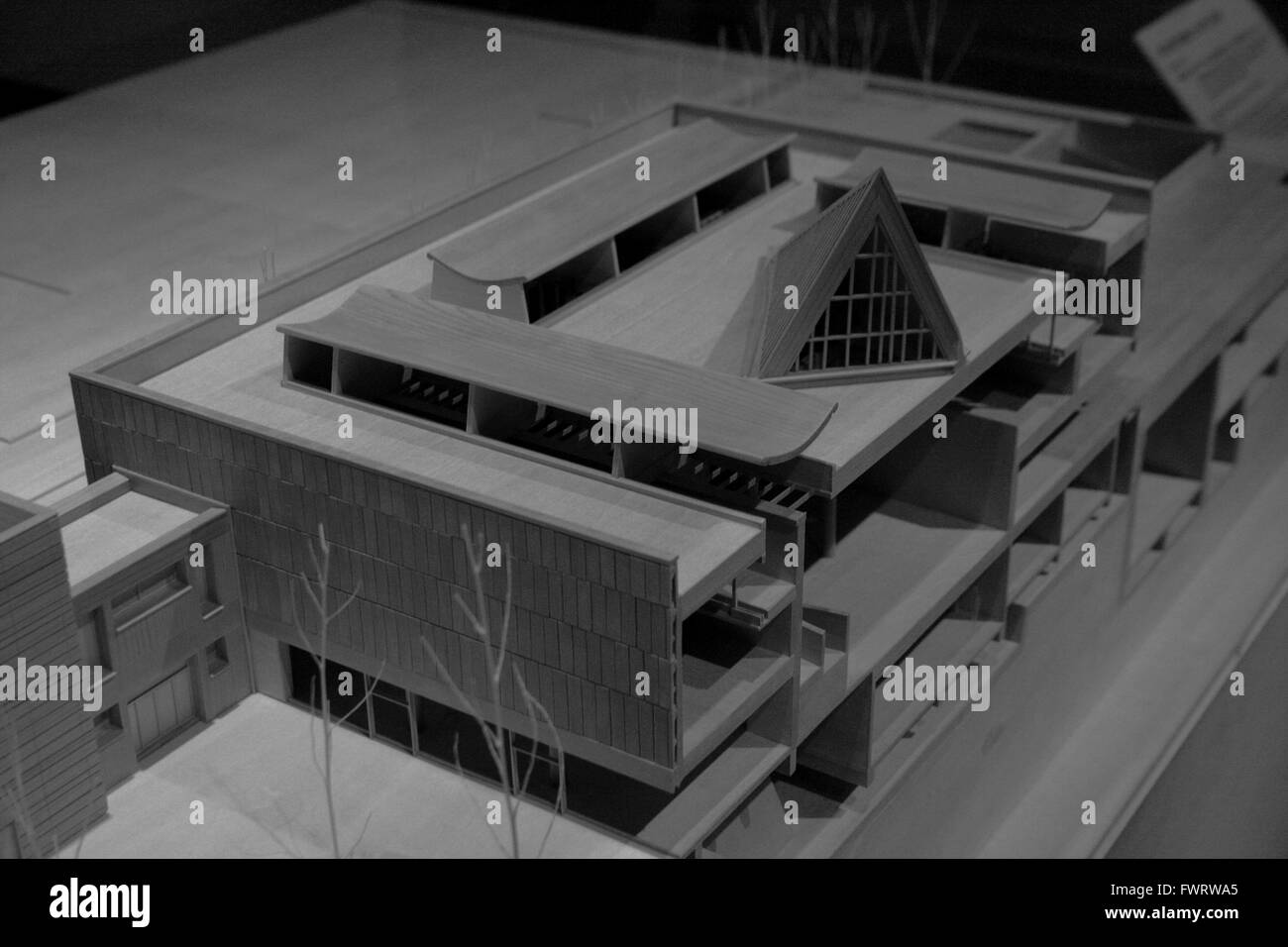 Model of the Le Corbusier-designed National Museum of ...
