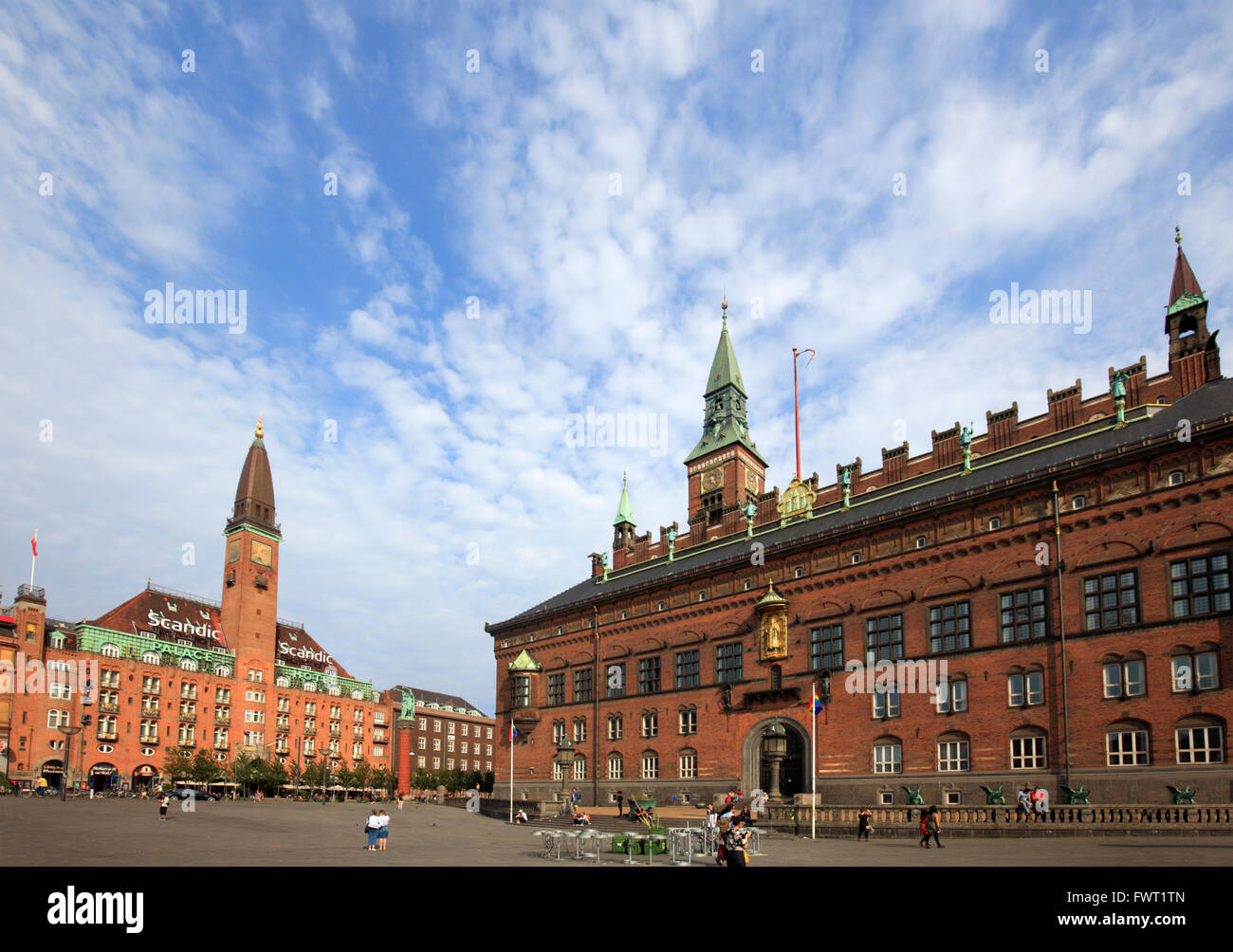 copenhagen city hall on the city hall square copenhagen denmark stock photo royalty free. Black Bedroom Furniture Sets. Home Design Ideas