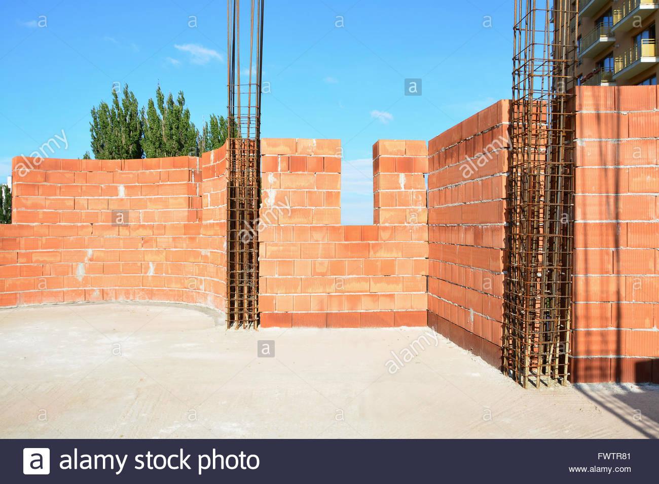 Confined Masonry Load Bearing Clay Block Wall Confined At