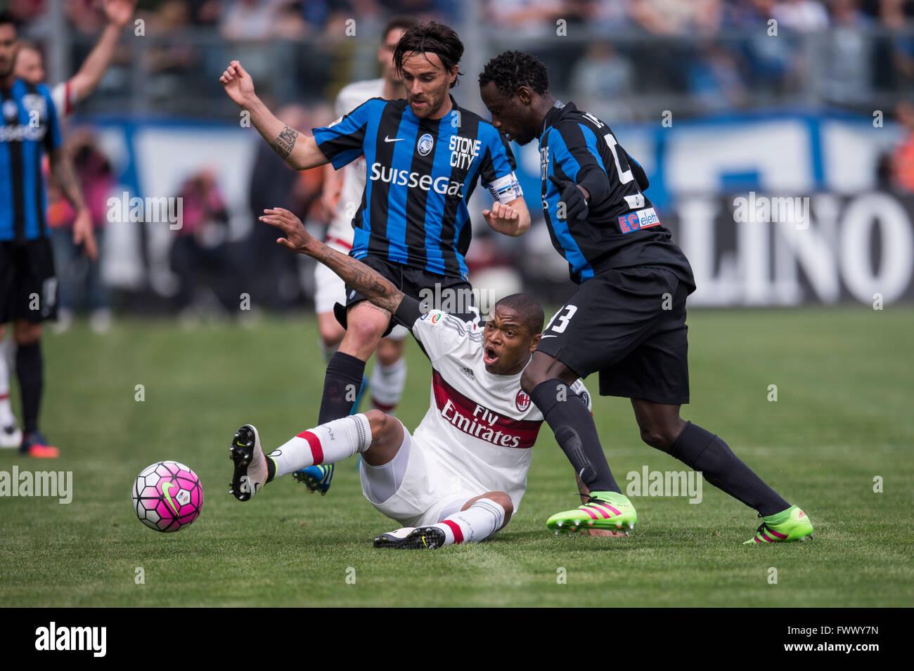 L R Luca Cigarini Atalanta Luiz Adriano Milan Boukary Drame