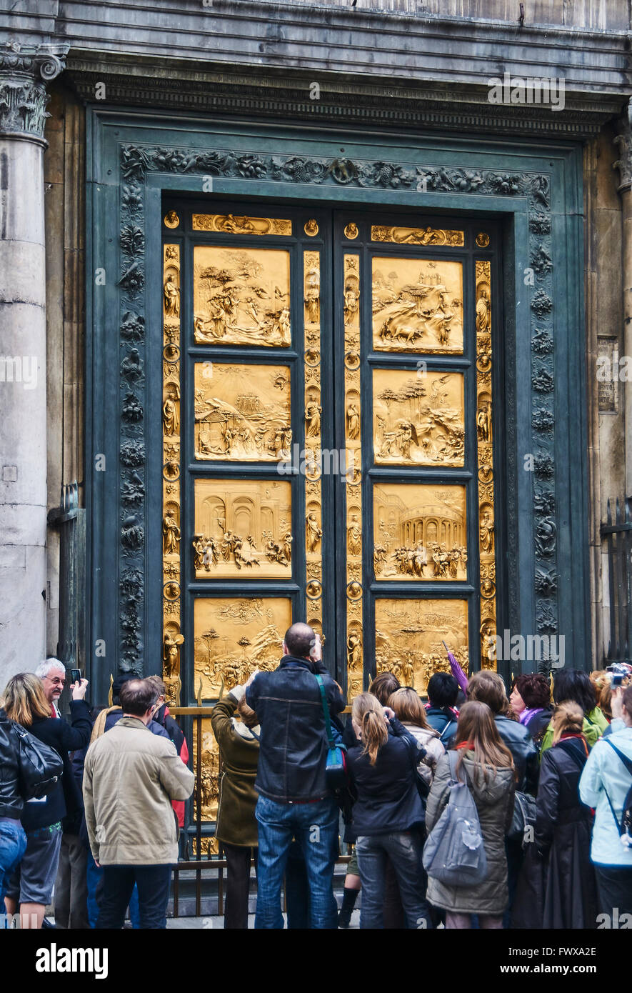 Stock Photo - The East doors or Gates of Paradise by Lorenzo Ghibertia on The Florence Baptistery ( Battistero di San Giovanni) also known & The East doors or Gates of Paradise by Lorenzo Ghibertia on The ... Pezcame.Com