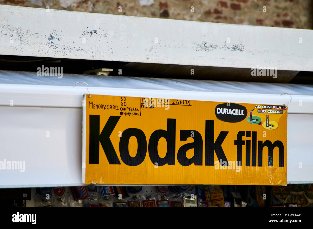 A Kodak Advertising Sign With Added Memory Card Info A Sign Of The ...