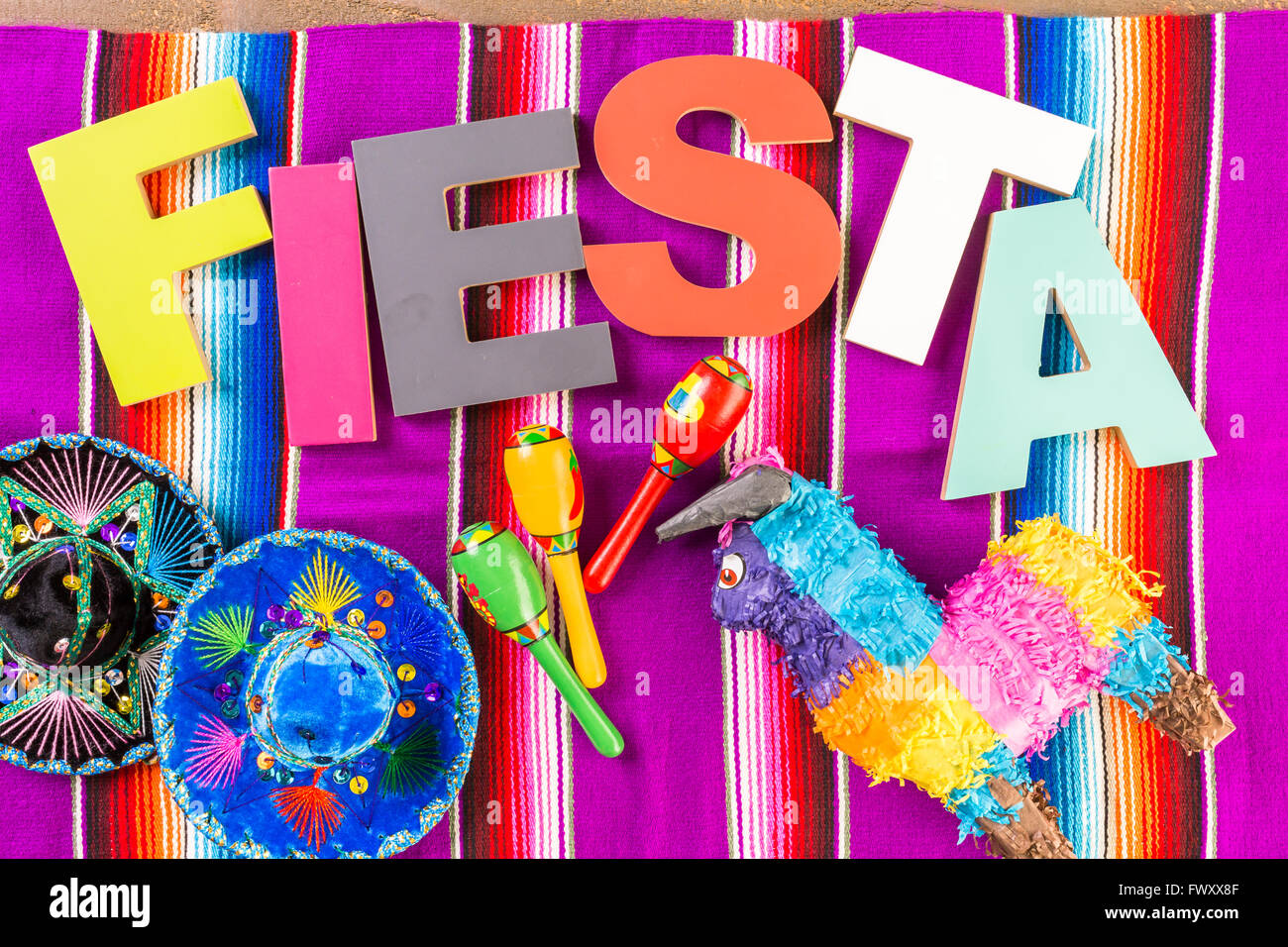 Fiesta Table Decorations Traditional Colorful Table Decorations For Celebrating Fiesta