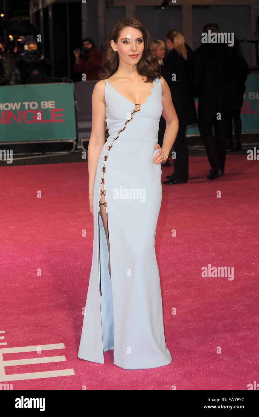 Alison Brie Attends The Uk Premiere Of How To Be Single At Vue West End In