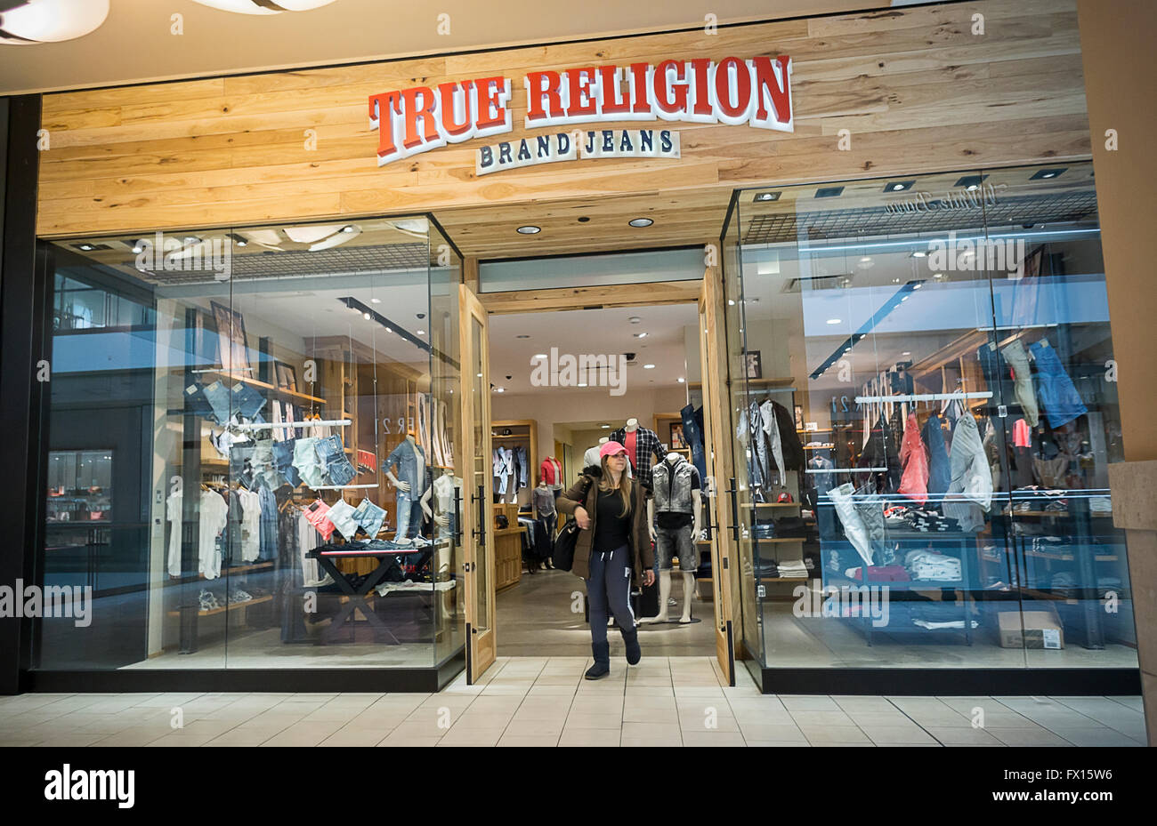 a true religion jeans store in the queens center mall in new york on stock photo royalty free. Black Bedroom Furniture Sets. Home Design Ideas