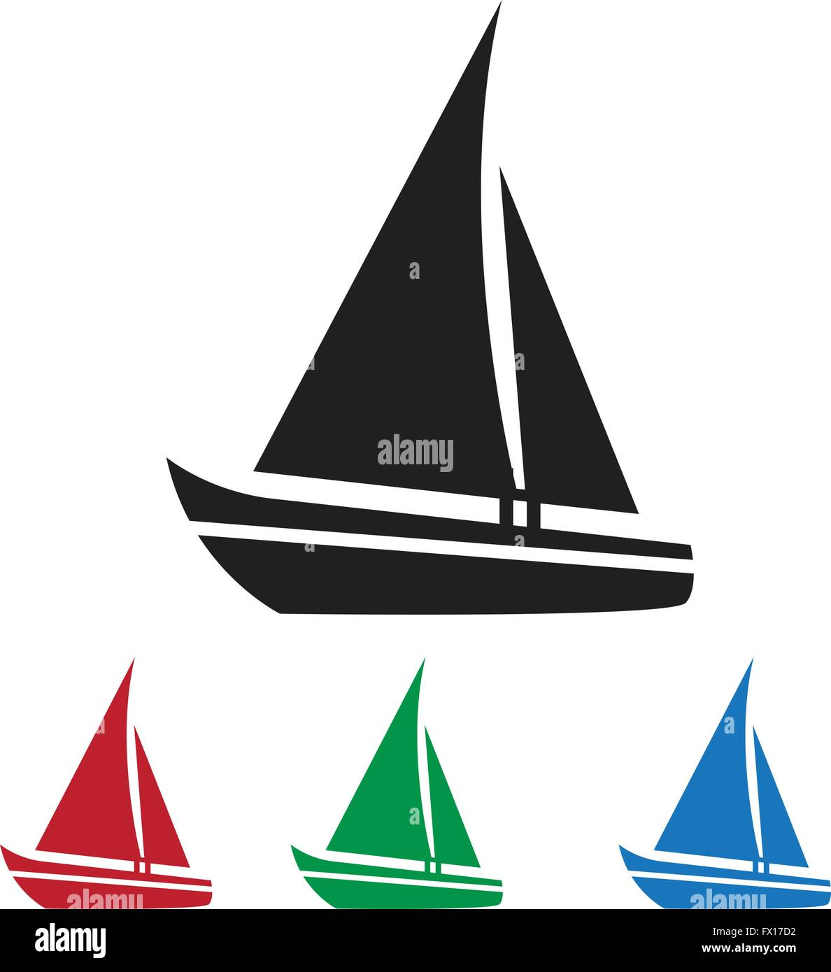 sailing boat icon stock vector art amp illustration vector