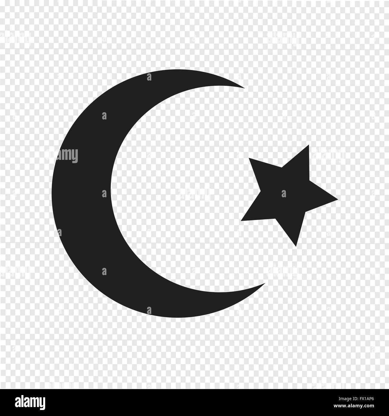 Symbol of islam star crescent icon stock vector art illustration symbol of islam star crescent icon buycottarizona Gallery
