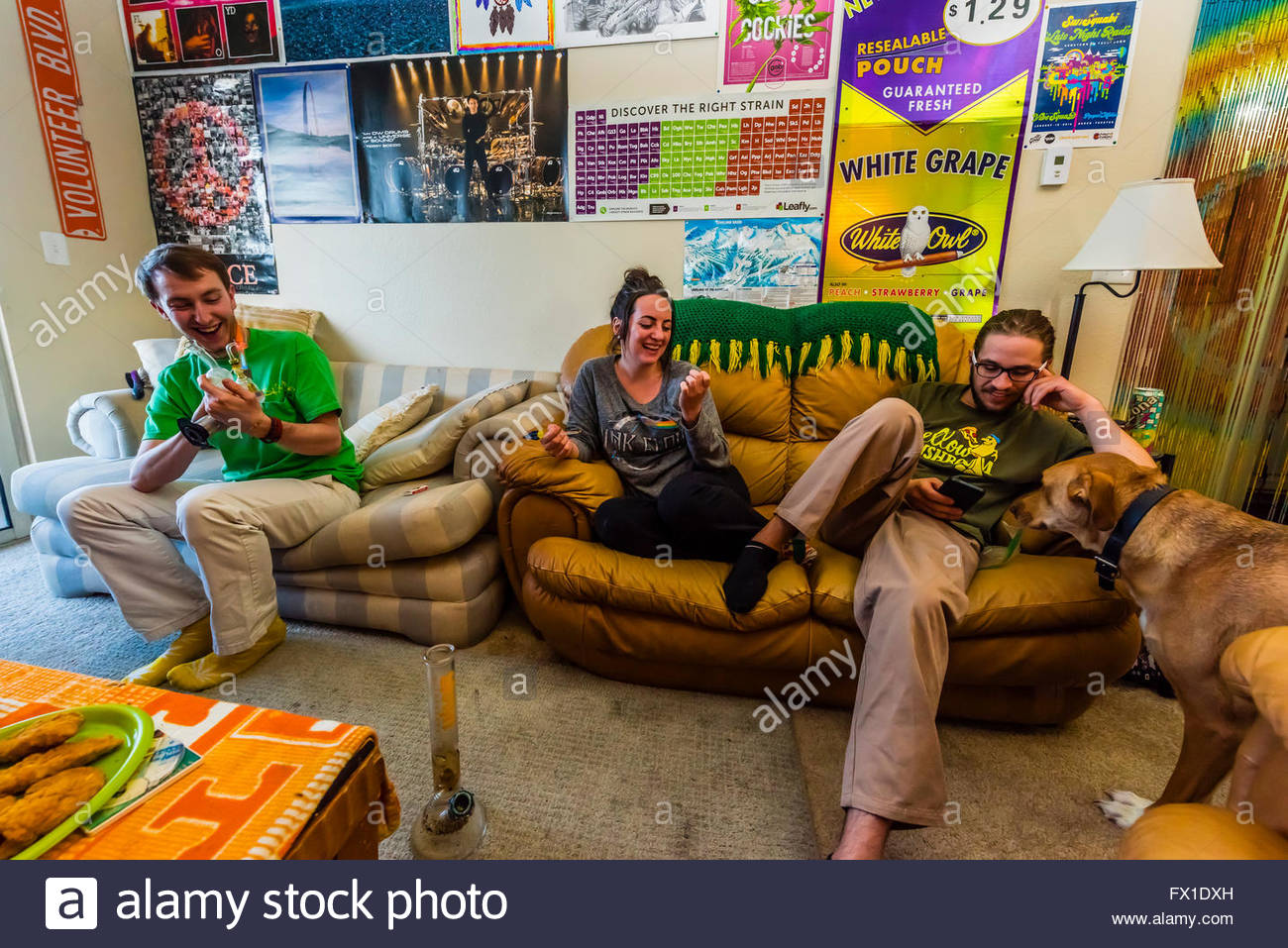 People Relaxing At Home