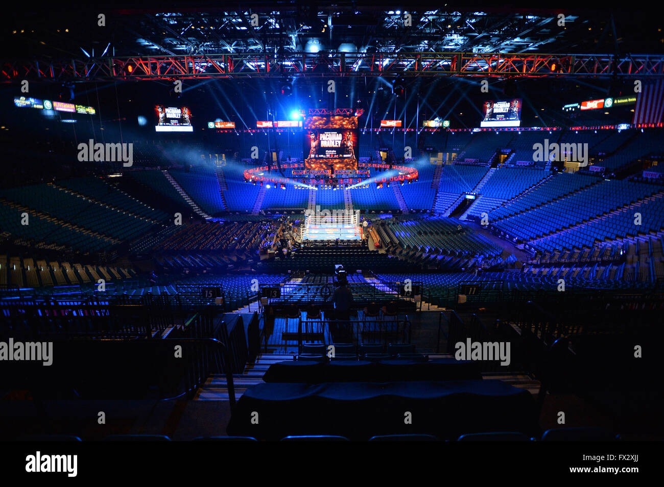 A general view of the MGM Grand Garden Arena on the 9th April 2016