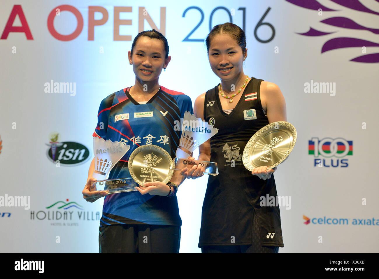 Kuala Lumpur Malaysia 10th Apr 2016 Ratchanok Intanon R of