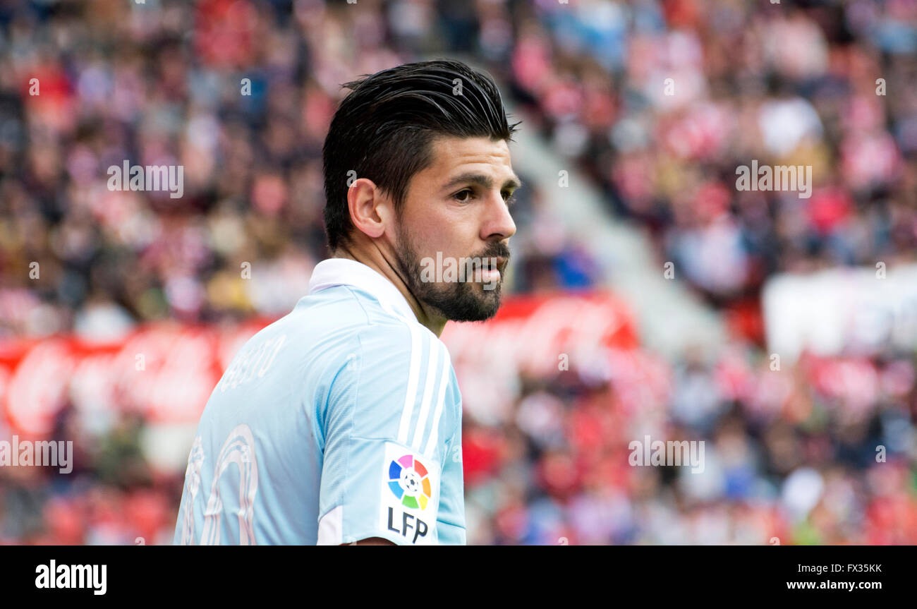 Gijon Spain 10th April 2016 Manuel Agudo Nolito midfielder