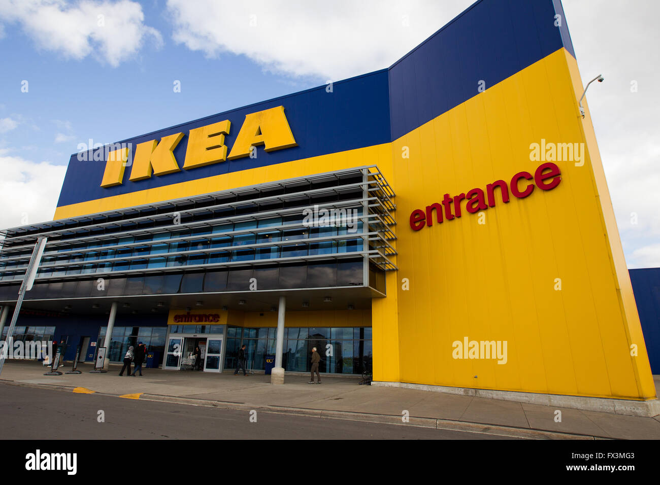 The ikea furniture store in vaughan ont on oct 18 for Ikea ontario canada
