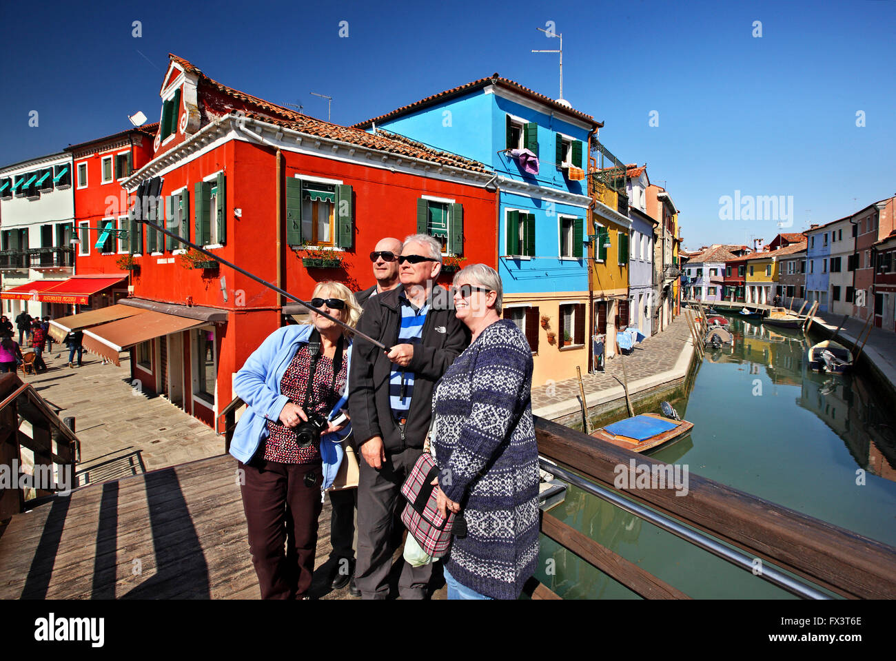 Colorful burano italy burano tourism -  Selfie In Front Of Colorful Houses Of Picturesque Burano Island Venice Veneto