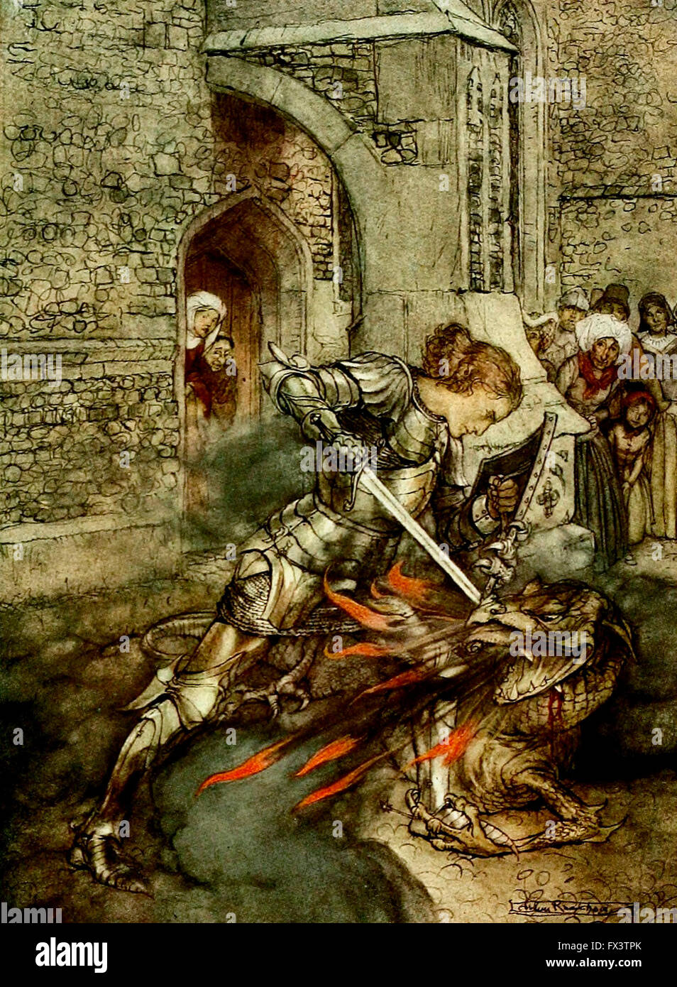 How sir lancelot fought with a fiendly dragon king arthur for 10 knights of the round table