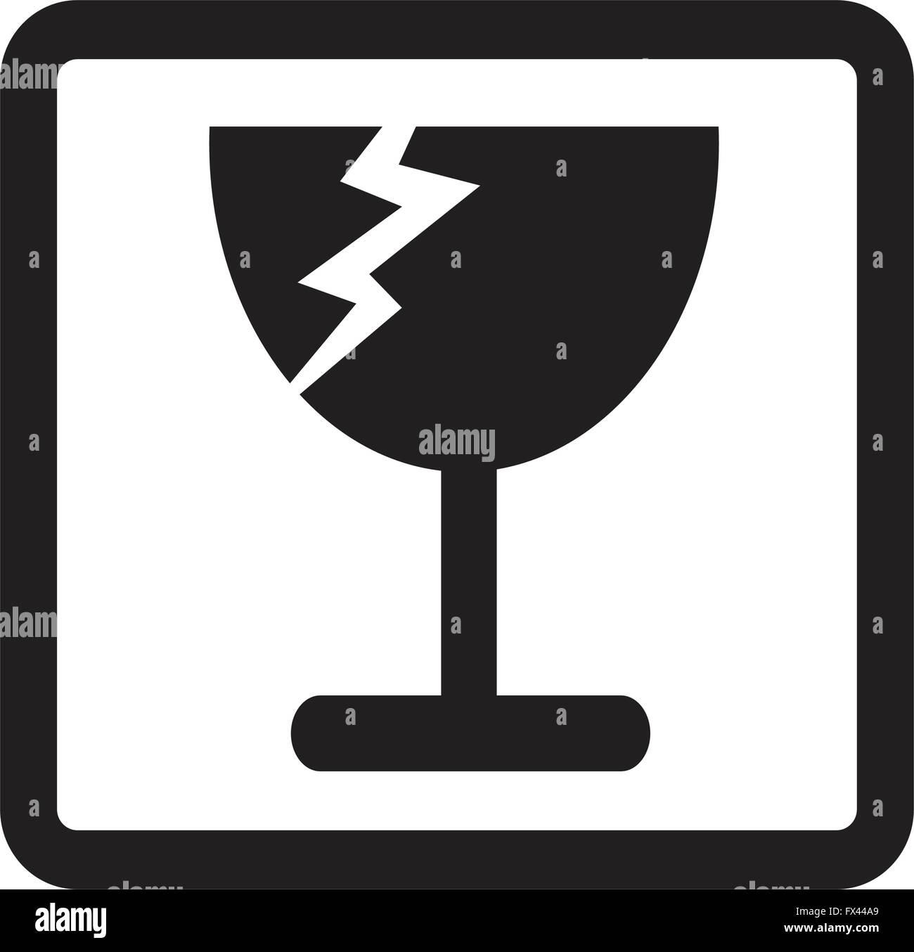 fragile icon symbol Illustration design Stock Vector Art ...