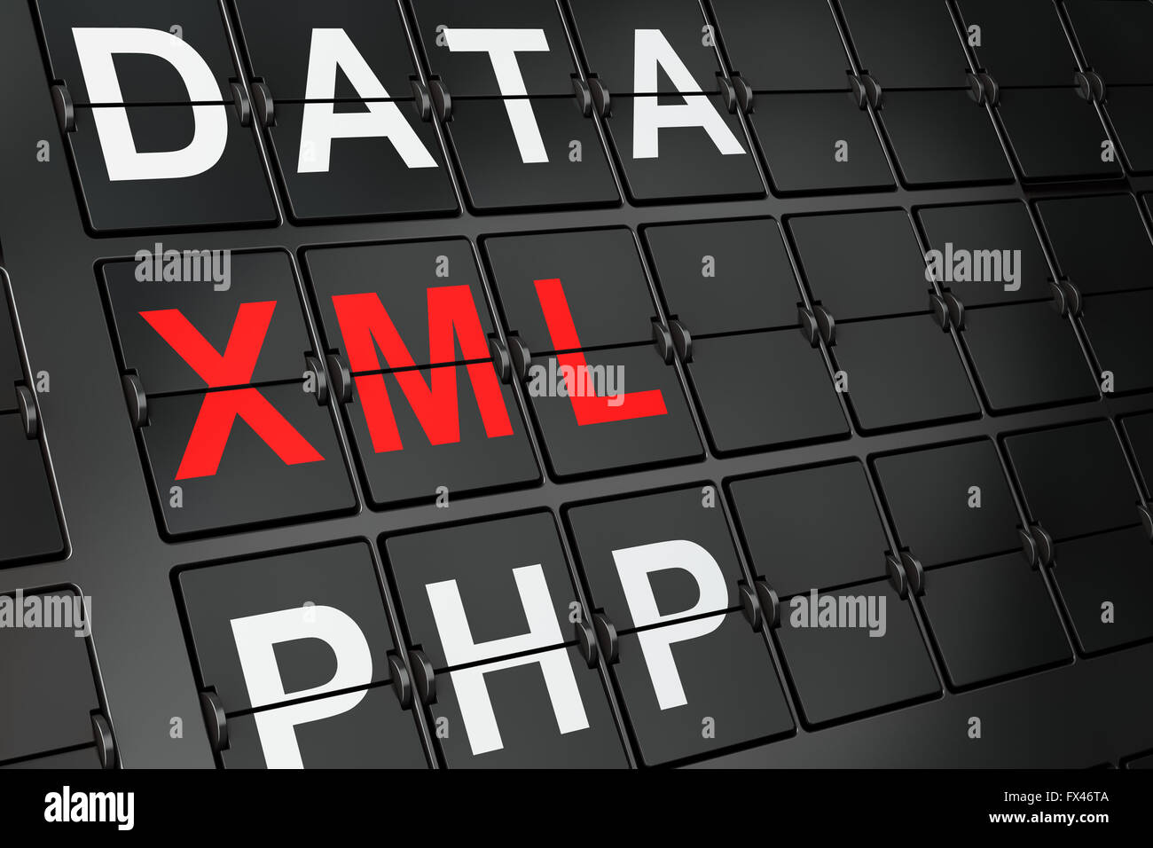 Background image xml - Software Concept Xml On Airport Board Background