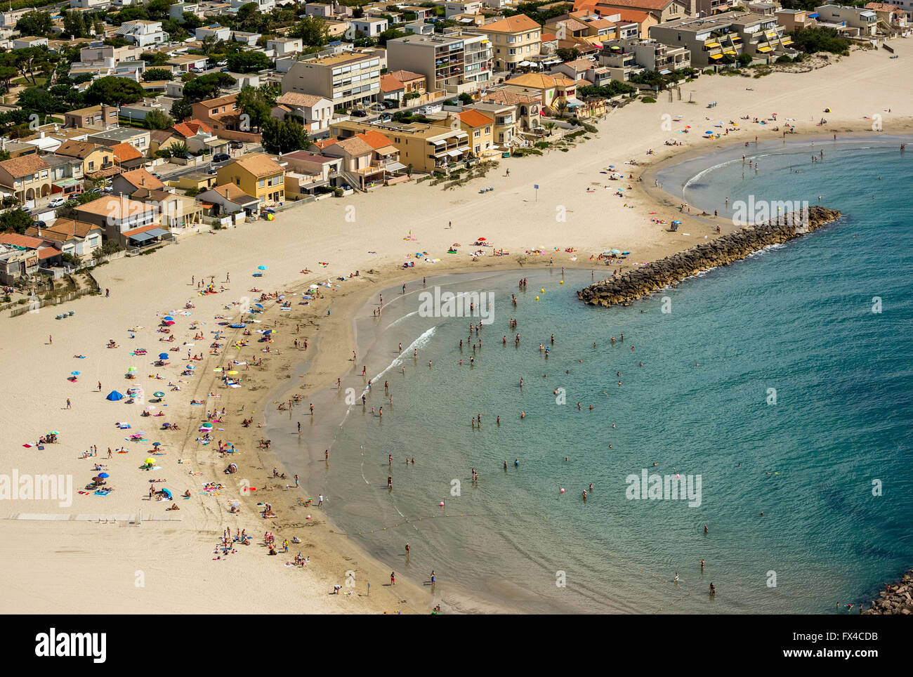 aerial view beach mediterranean beach of mauguio mauguio france stock photo royalty free. Black Bedroom Furniture Sets. Home Design Ideas