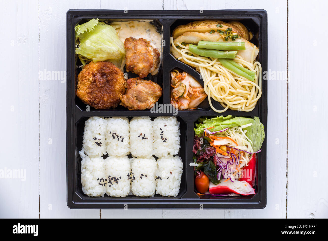 bento box set traditional japanese food set for lunch stock photo royalty free image. Black Bedroom Furniture Sets. Home Design Ideas