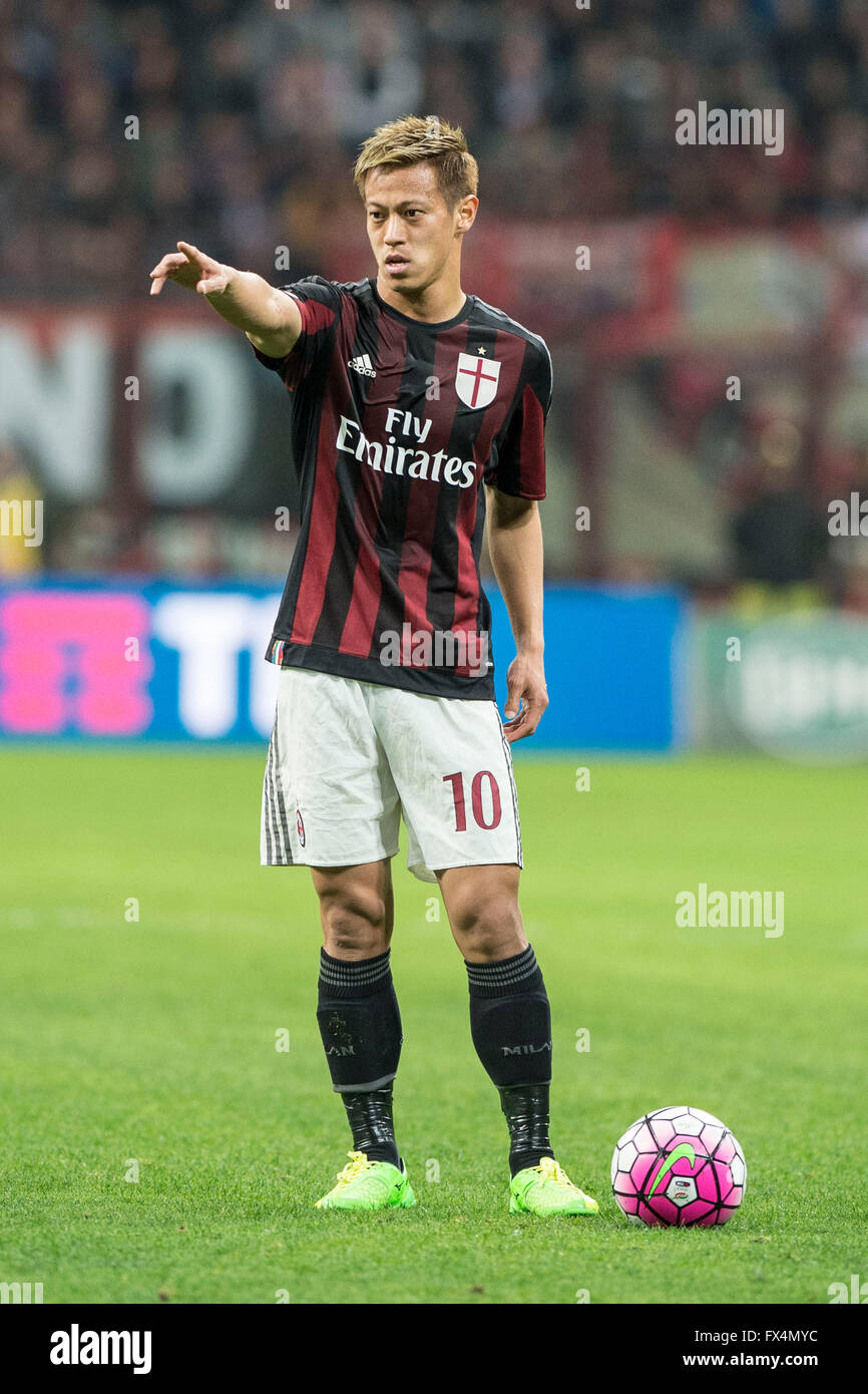 Milan Italy 9th Apr 2016 Keisuke Honda Milan Football Soccer