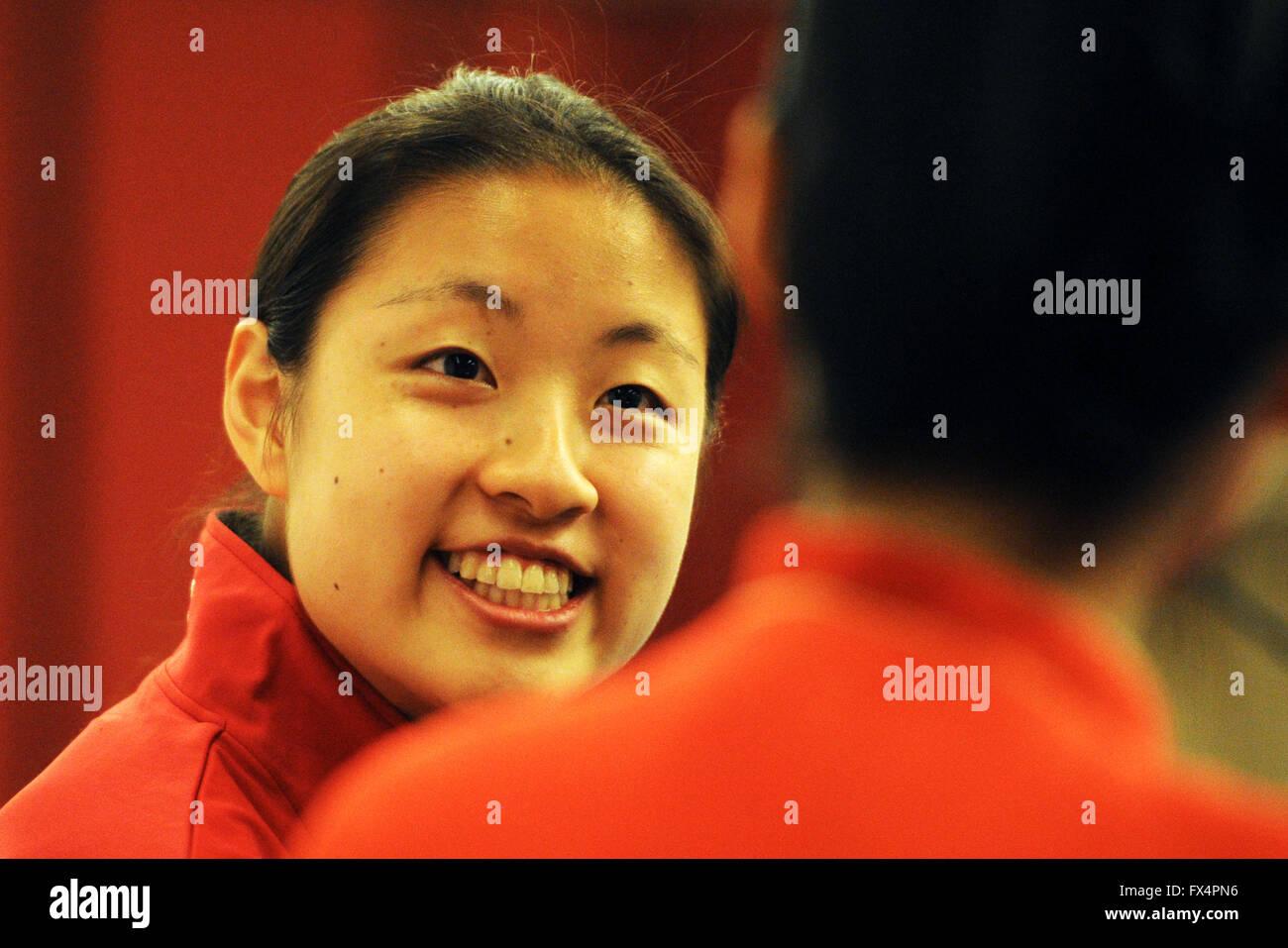 Singapore 11th Apr 2016 Japan s badminton player Nozomi Okuhara