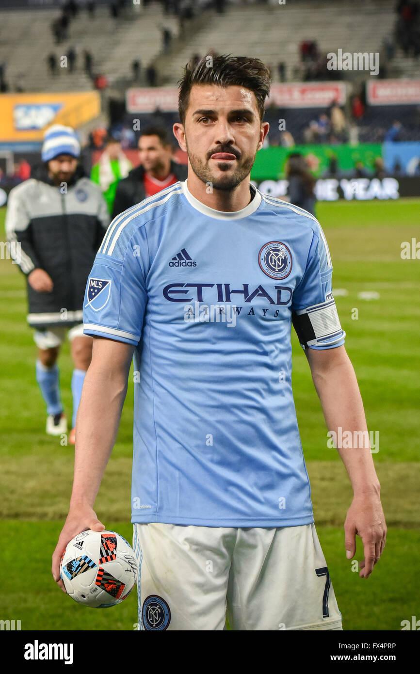 the Bronx New York USA 10th Apr 2016 David Villa NYCFC