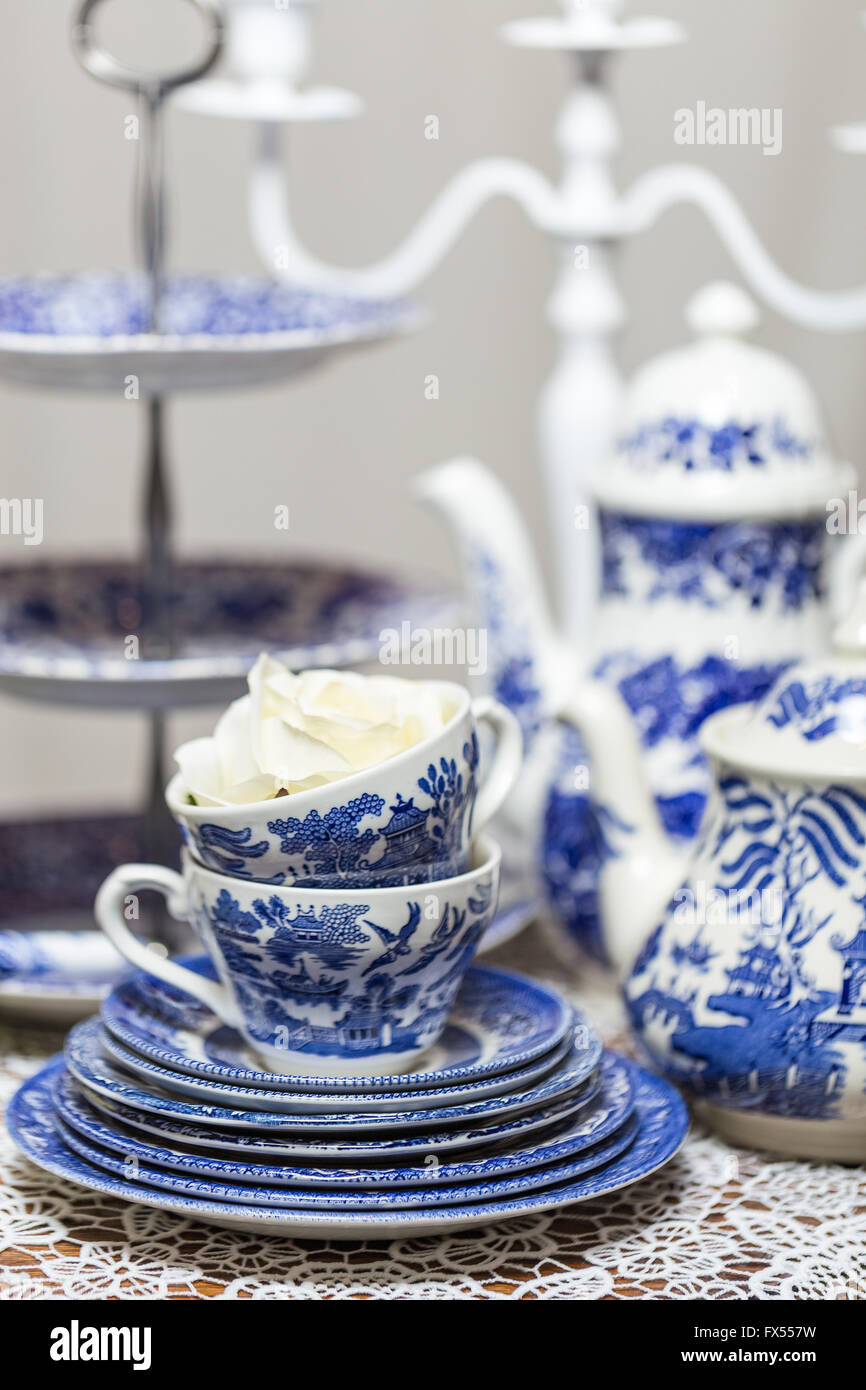 V Blue White Blue And White China Porcelain Tea