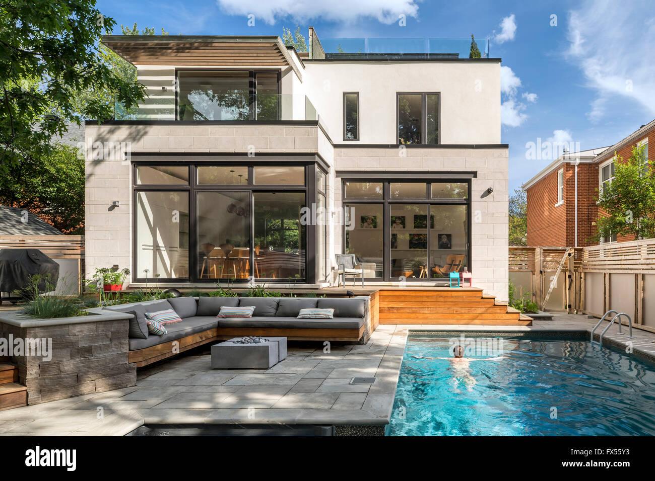 Backyard Architect Part - 37: Stock Photo - Swimming Pool And Backyard. Avenue Road Residence, Ottawa,  Canada. Architect: Jason Flynn Architect, 2015