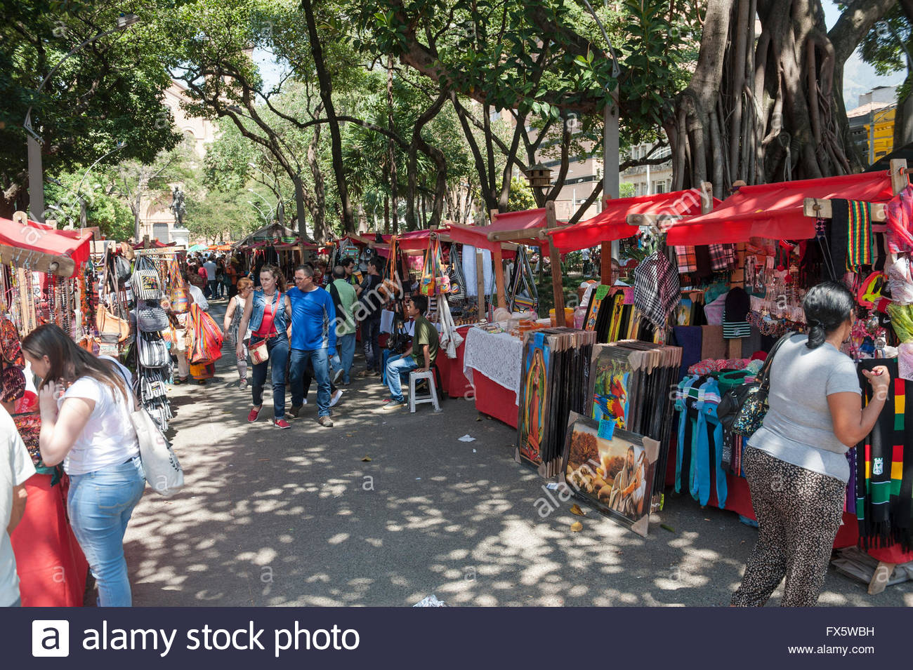 Medellin colombia colourful arts and crafts market on for Arts and crafts industry