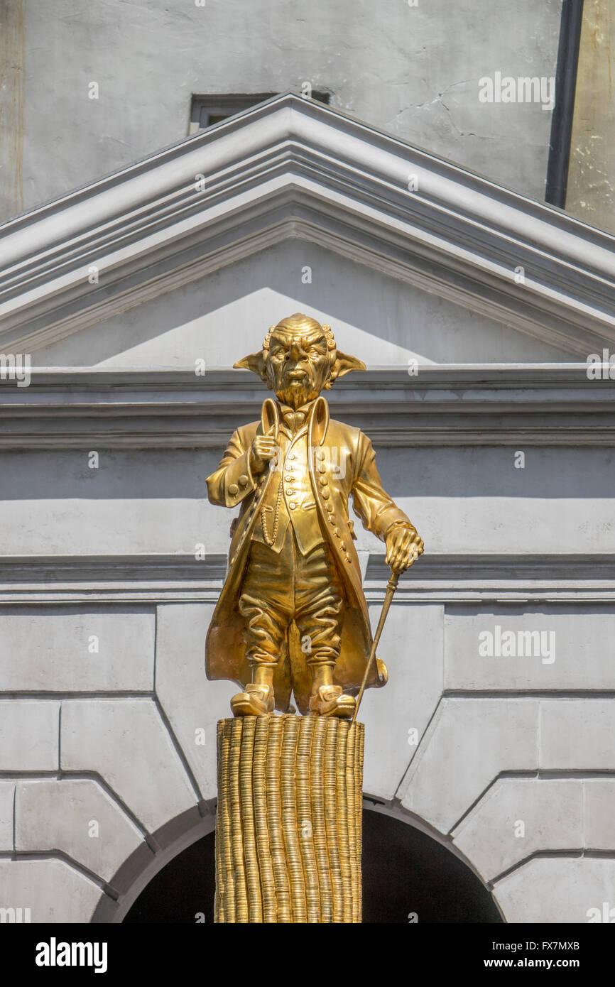 Golden Universal Tarot: Gold Statue Of The Goblin Gringott Founder Of Gringotts