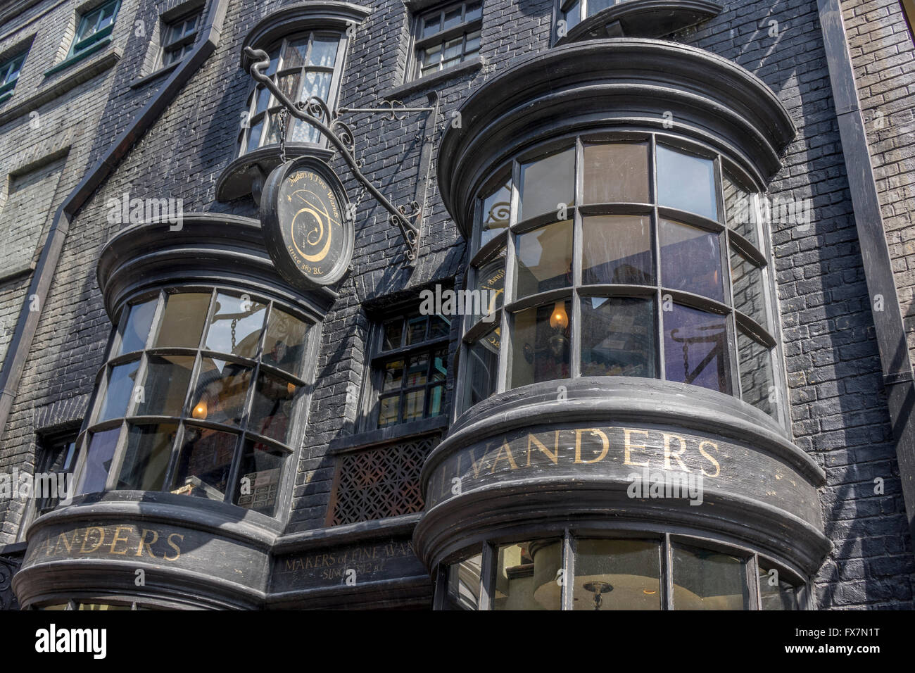 close up exterior of garrick ollivander wandmakers shop in harry stock photo royalty free image. Black Bedroom Furniture Sets. Home Design Ideas