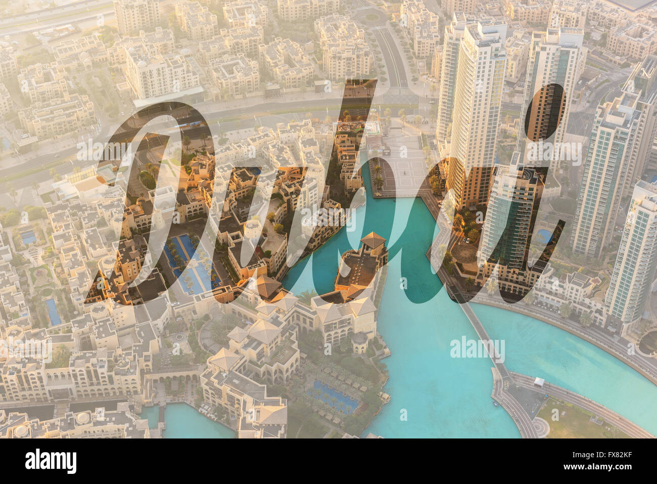 Name of city dubai written on background of downtown for Dubai best hotel name