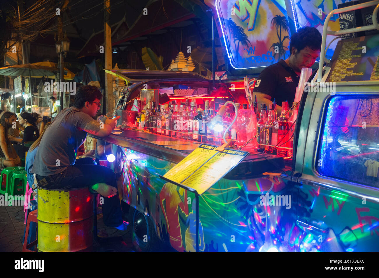 Mobile bar banglamphu bangkok thailand stock photo for Thailand mobel