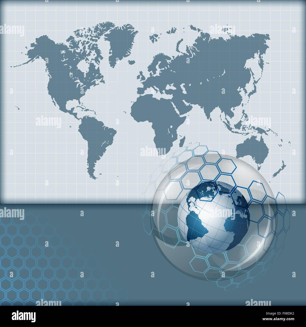 Abstract computer graphic with earth globe on world map background abstract computer graphic with earth globe on world map background gumiabroncs Gallery