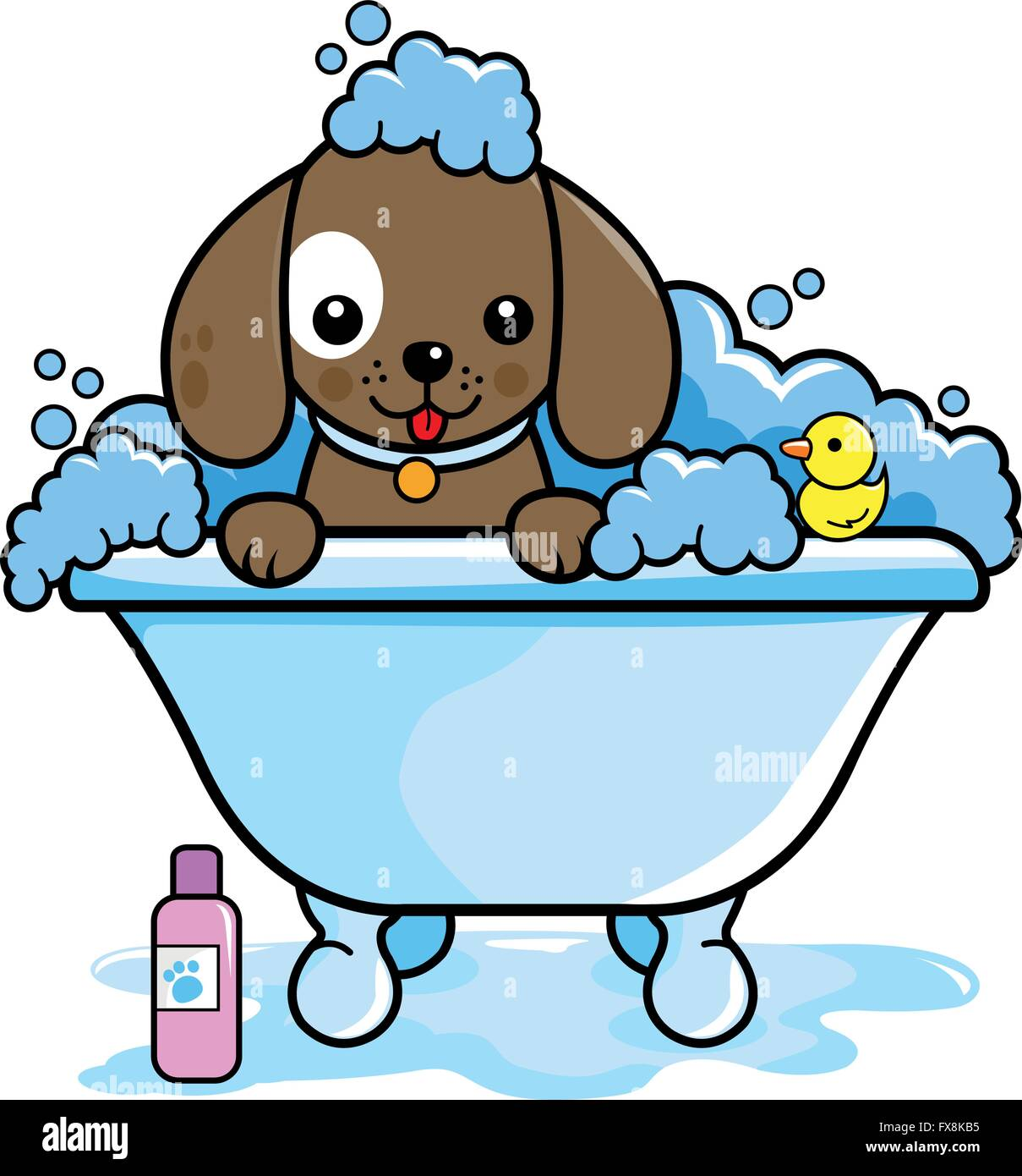 Bath Bubbles Cartoon Free Vector Graphic On Pixabay: Dog In A Tub Taking A Bubble Bath Stock Vector Art