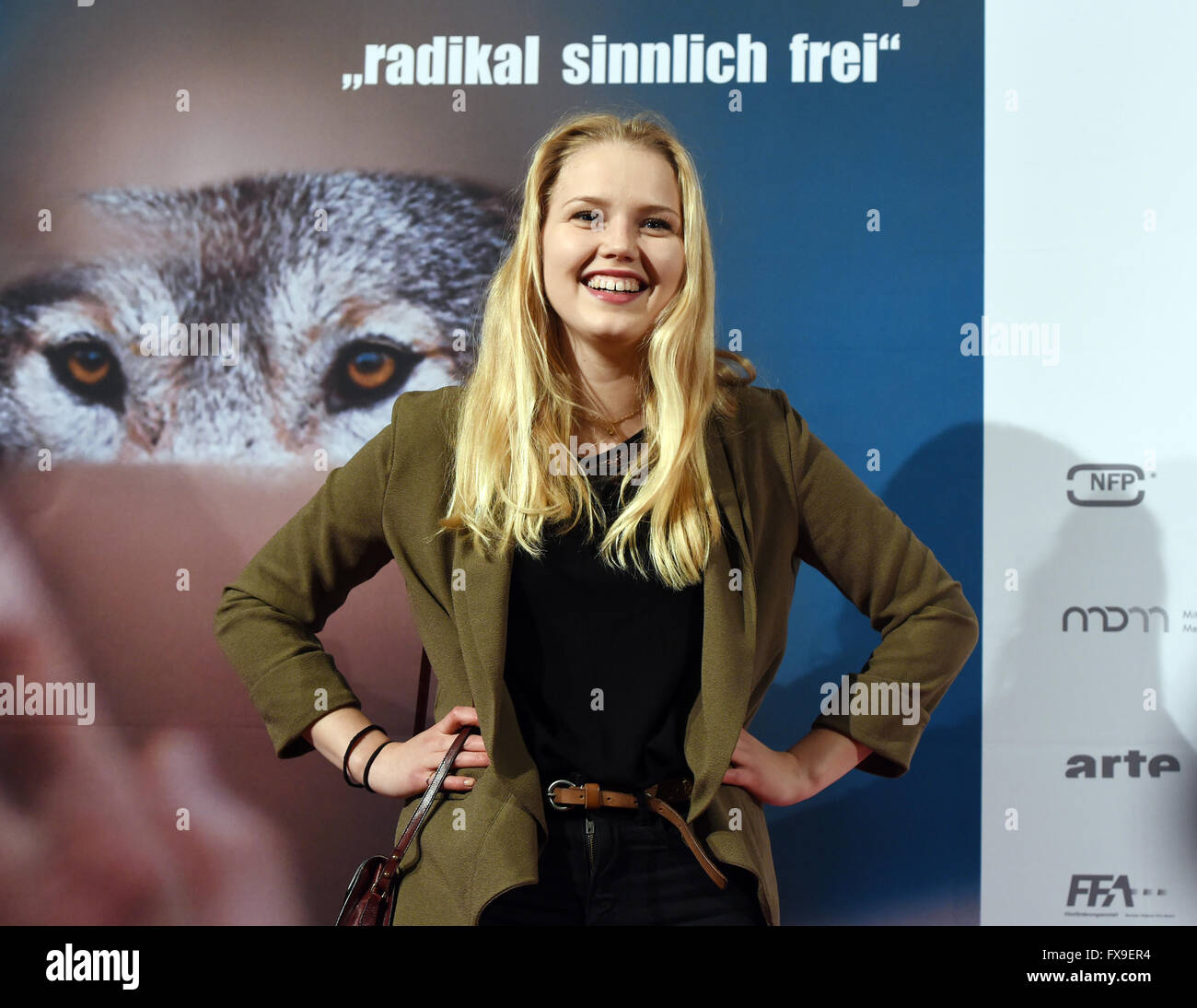 nicolette stock photos nicolette stock images alamy berlin 12th apr 2016 actress eva nuernberg arriving at the premiere