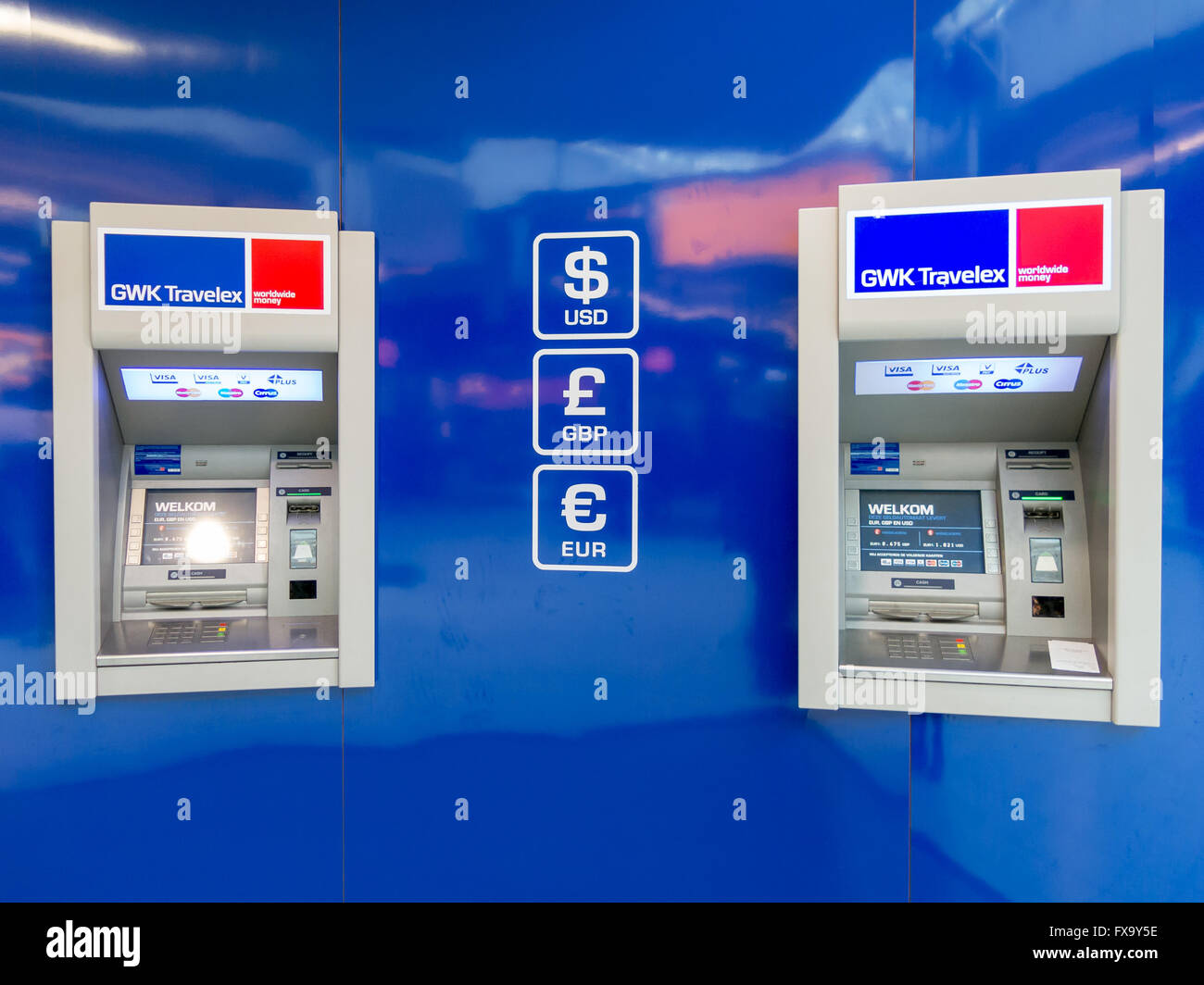 Atm Machine For Cash Money And Currency Exchange At
