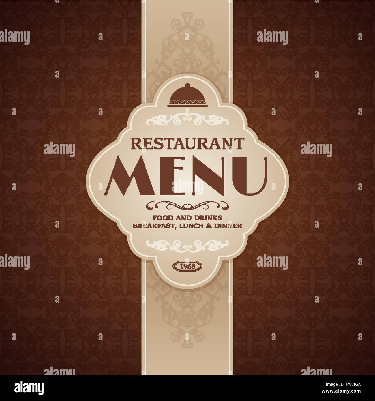 Restaurant Cafe Menu Brochure Template Stock Vector Art - Menu brochure template