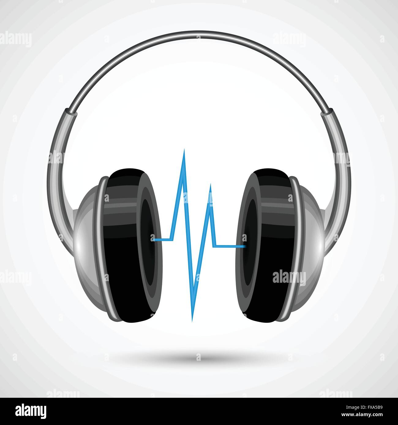 Headphones and soundwave poster Stock Vector Art & Illustration ...