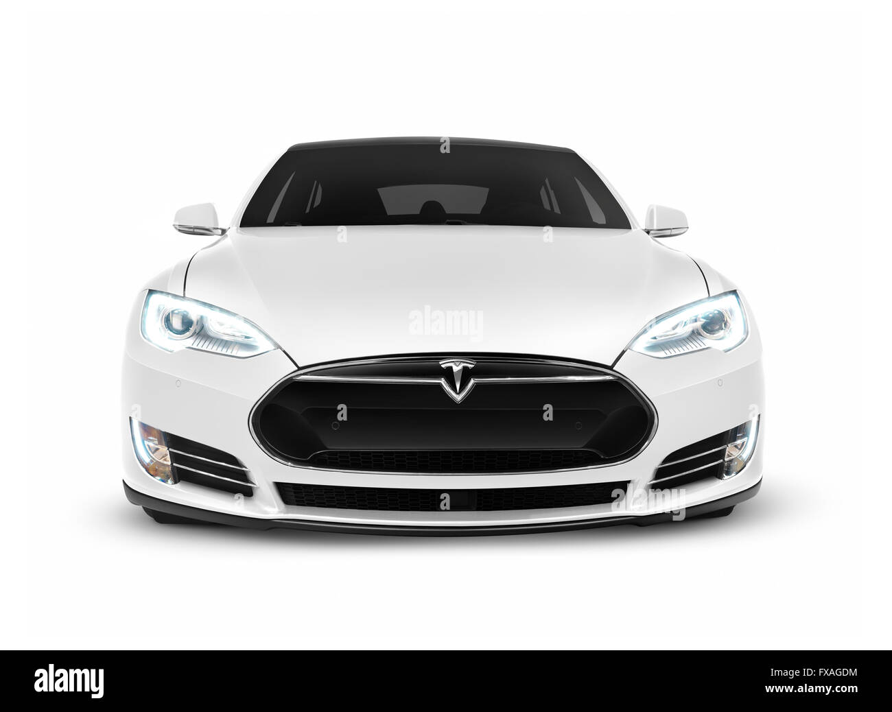 2017 tesla model s luxury electric car front view stock photo 102265344 alamy. Black Bedroom Furniture Sets. Home Design Ideas