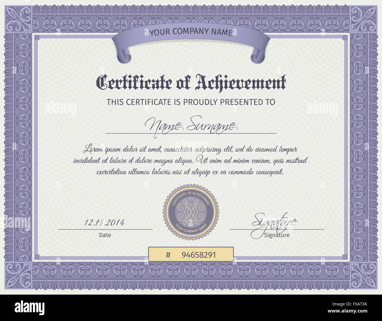 qualification certificate template stock vector art