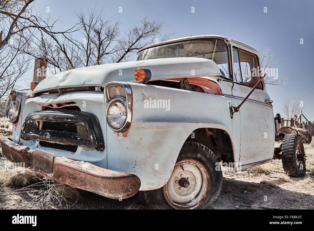 Vintage pickup truck abandoned classic junkyard wreck old ...