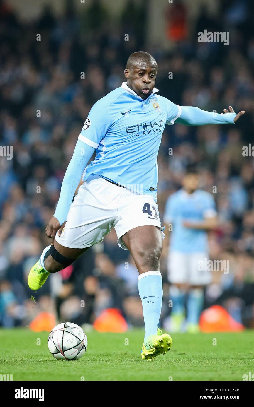 Manchester UK 12th Apr 2016 Yaya Toure Man C Football Soccer